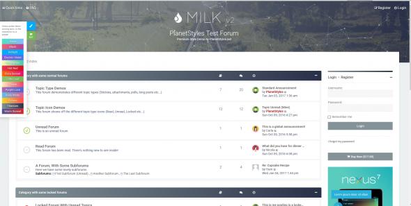 Milk v2.0.6 - чистый и современный отзывчивый стиль для phpBB 3.2. - 1.PNG