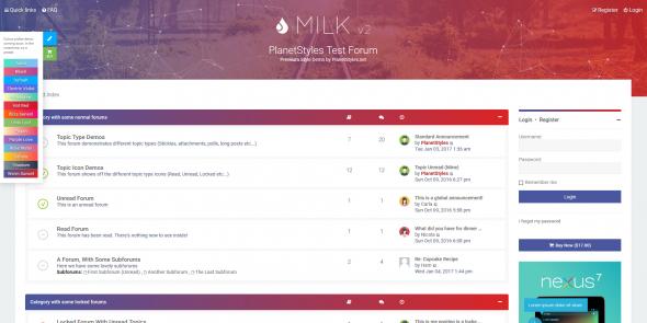 Milk v2.0.6 - чистый и современный отзывчивый стиль для phpBB 3.2. - 2.PNG
